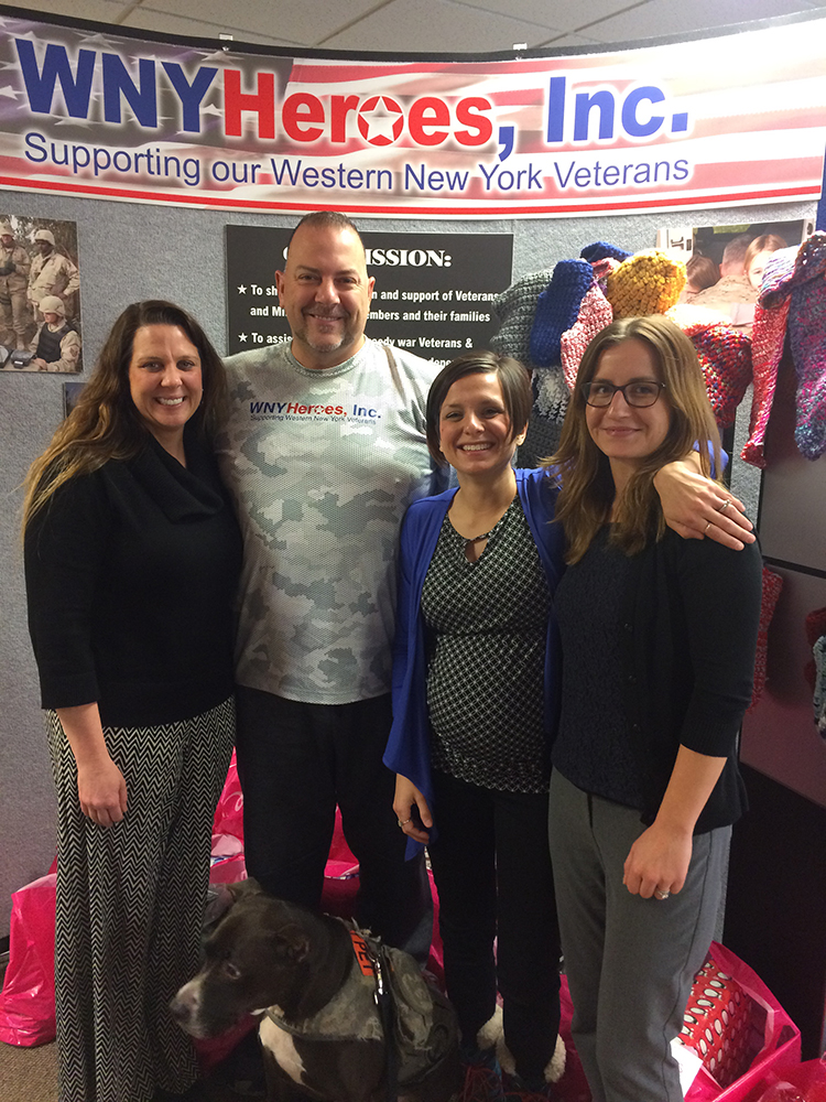 the network's top referring provider in the Buffalo region, WNYHeroes, Inc. Chris Kreiger and Lynn Magistrale shared positive feedback from veterans that have been served by the network