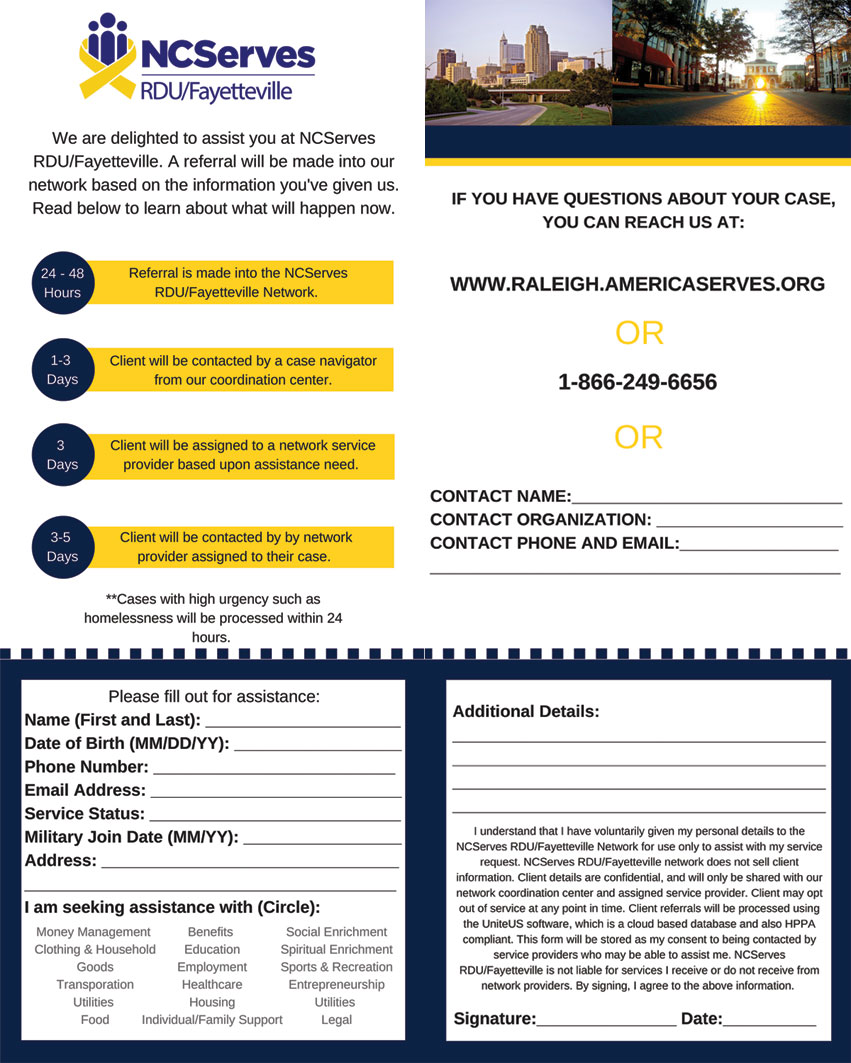 NCServes Contact Form