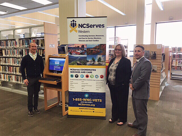 AmericaServes Kiosk at Pack Memorial Library