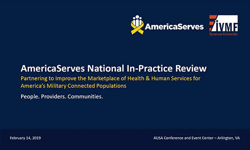 AmericaServes National In-Practice Review