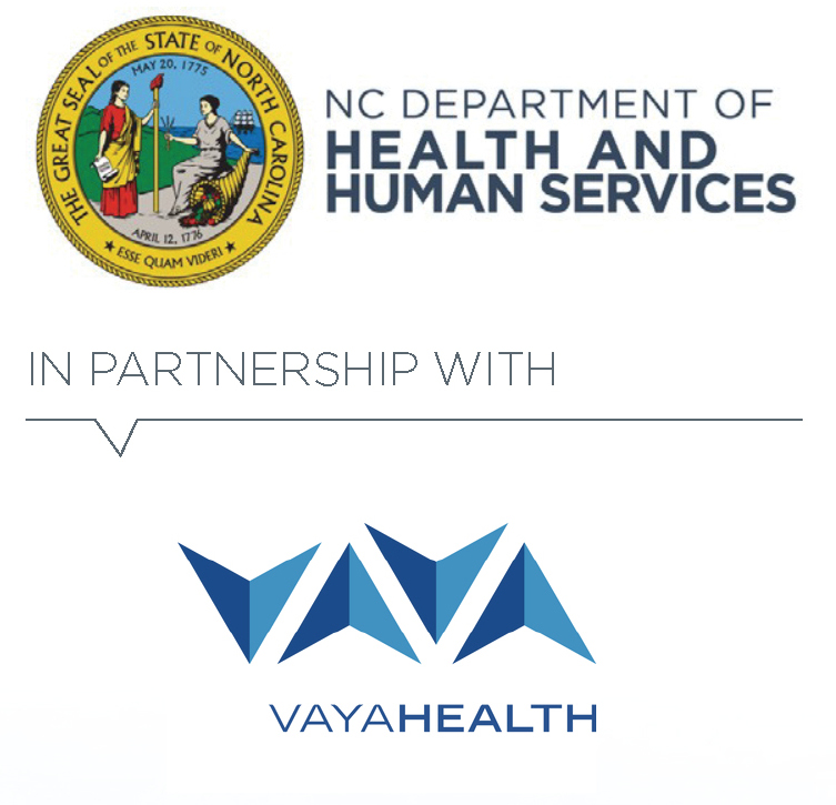 NC Department of health and human services in partnership with vaya health